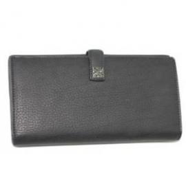 財布 コピー シャネル A66628 CCメタル付きカーフスキン ダブルホック長財布 黒 新品