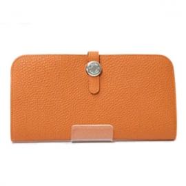 偽物財布  エルメスドゴン ロング オレンジ トゴ HER-003