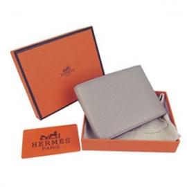 財布 コピー エルメスブランド コンパクト 二つ折り財布トリヨンクレマンス グレー HR15333