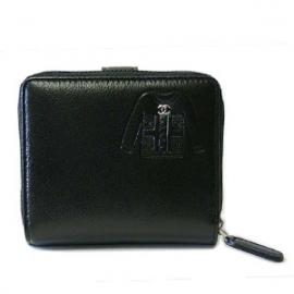 (CHANEL)シャネル コピー激安財布 スーツデザイン ラウンドファスナー二つ折財布 黒 A50137
