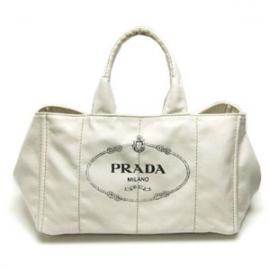 (PRADA)プラダコピー 激安 トートバッグ キャンバス オフホワイトB1872B-2