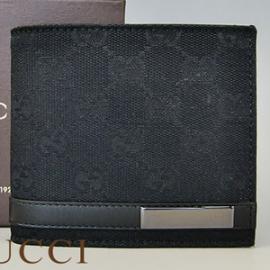 グッチコピー 財布 GUCCI 二つ折り財布 GGキャンバス ブラック  233102-FAFXR-1000