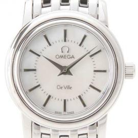 コピー腕時計 オメガ デビル プレステージ 4570.72 ホワイトシェル レディースミニ