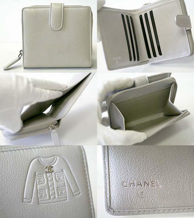 (CHANEL)シャネル コピー激安財布 スーツデザイン ラウンドファスナー二つ折財布 A50137