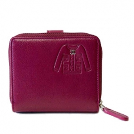 (CHANEL)シャネル コピー激安財布 スーツデザイン ラウンドファスナー二つ折財布 パープル A50137
