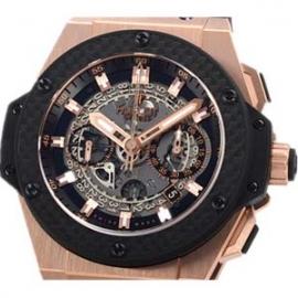 コピー腕時計 ウブロ キングパワー ウニコ キングゴールドカーボン 701.OQ.0180.RX