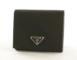 財布 コピー プラダ テスート 三つ折財布 ブラック M176