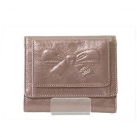 激安ブランド財布(CHANEL)シャネル コピー メタリックリボン財布 ブロンズピンク A46895