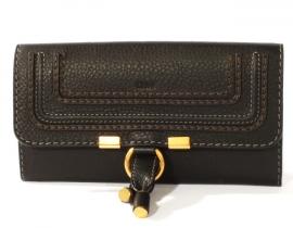 財布 コピー クロエ マーシー 長財布 ブラック 3P0571-161-001
