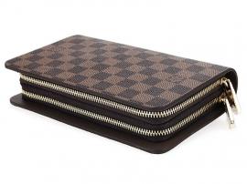 ルイヴィトンコピー新品財布コーヒー格双取っ手バッグ2012