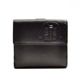 (CHANEL)シャネル コピー 二つ折り財布 レザー ジャケットモチーフ ココマーク A48687