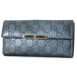 (GUCCI)グッチコピー財布 メタルバー グッチシマ 長財布 メタリックブルー 112715AHB1G4104