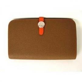 財布 コピー エルメスドゴンGM トゴ/アルザン×オレンジ HER-025