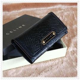 財布 コピー (CELINE)セリーヌヘビ柄 ブラック celine051