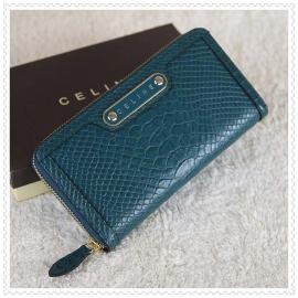 財布 コピー (CELINE)セリーヌヘビ柄 ブルー celine052