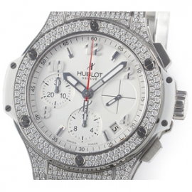 コピー腕時計 ウブロビッグバン スチール ホワイトパヴェ342.SE.230.RW.174