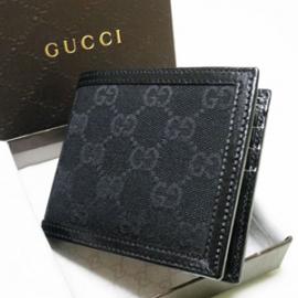 グッチコピー 二つ折り財布 GGキャンバス×カーフ 225826 F4C7R 1000
