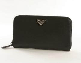 財布 コピー プラダ サフィアーノ ORO 長財布 ブラック M506A