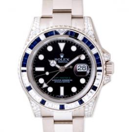 ロレックスコピー GMTマスターII サファイア・ダイヤベゼル ラグダイヤ ブラック 116759SA