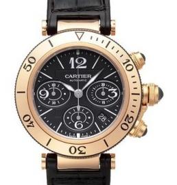 コピー腕時計 カルティエ パシャ シータイマー クロノグラフ Pasha Sea-Timer Chronograph W3030018