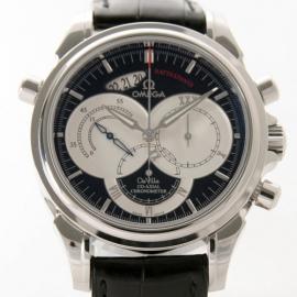 コピー腕時計 オメガ デビル 4847.50.31 コーアクシャル ラトラパンテ クロコレザーメンズ