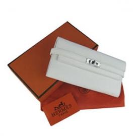財布 コピー エルメスブランド ケリーウォレット ホワイト HR12029