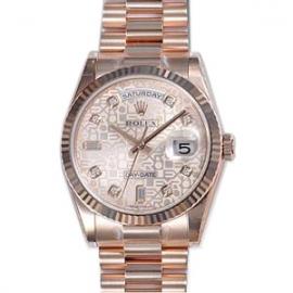 (ROLEX)ロレックス スーパーコピー 時計 オイスターパーペチュアル デイデイト 118235FA