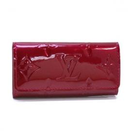 新品 偽物ビトン4連キーケース 赤ヴェルニポムダムール M91976