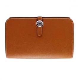 財布 コピー エルメスドゴンGMトゴ/ゴールドHER-022