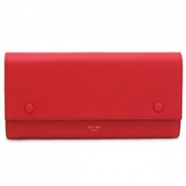 財布 コピー 067 レザー 長財布 二つ折りLARGE セリーヌ FLAP CELINE レッド 販売 3JFL RRa5tx