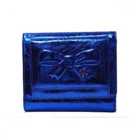(CHANEL)シャネル コピー激安財布 メタリックリボン財布 ブロンズシルバー A46895