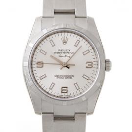 ロレックス コピー腕時計 エアーキング シルバー3・6・9ホワイトバー114210