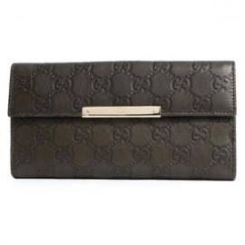 (GUCCI)グッチコピー財布 シマ 長財布 ダークカーキ 112715A0V1G3216