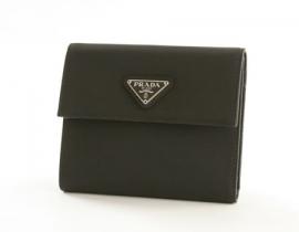 財布 コピー プラダ テスート 二つ折財布 ブラック M170