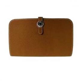 財布 コピー エルメスドゴンGMトゴ/ゴールド HER-023