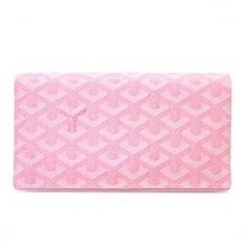 ゴヤールコピー二つ折り 長財布 メンズ レディース ピンク APM20540