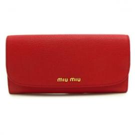 財布 コピー ミュウミュウ 2013年新作二つ折り 型押しレザー フォーコレッド 5M1109