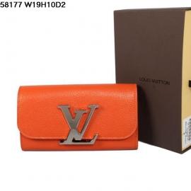 ルイヴィトンコピー新品財布折りたたみ長め金属ボタン橙58177