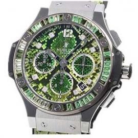 コピー腕時計 ウブロ ビッグバン ボアスチールグリーン 世界限定250本 341.SX.7817.PR.1978