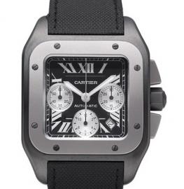 コピー腕時計 カルティエ サントス100 カーボン クロノグラフ Santos 100 Carbon Chronograph W2020005