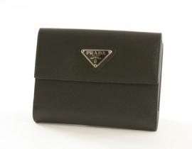 財布 コピー プラダ サフィアーノ ORO 二つ折財布 ブラック M523A