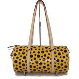 バッグ 偽物 ルイヴィトンパピヨン 草間やよいコラボ限定品黄色 ハンドバッグ M91424
