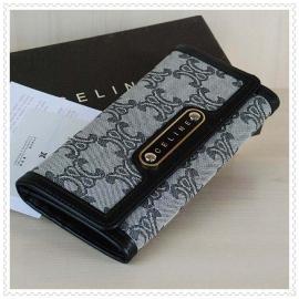 財布 コピー (CELINE)セリーヌロゴ模様 グレー/ブラック celine042