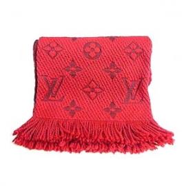 ヴィトン コピー モノグラム マフラー エシャルプ・ロゴマニア 赤 M72431