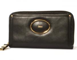 財布 コピー クロエ ヴィクトリア 長財布 ブラック 3P0531-106-001
