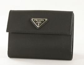財布 コピー プラダ テスート 二つ折財布 ブラック 1M0523