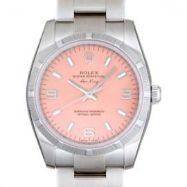 ロレックス コピー腕時計 エアーキング ピンク3・6・9ホワイトバー114210