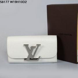 ルイヴィトンコピー新品財布折りたたみ長め白い58173金属ボタン