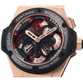 コピー腕時計 ウブロ キングパワー ウニコ GMT キングゴールドセラミック 771.OM.1170.RX