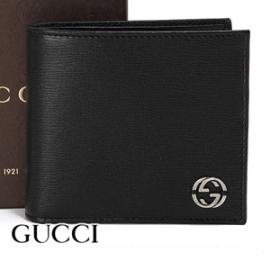 グッチコピー 財布 GUCCI 二つ折り財布 GGロゴ チェルシー メンズ ブラック 256336-ARU0N-1000